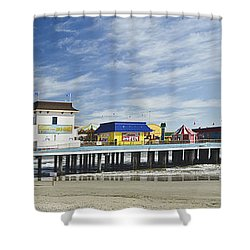 Galveston Pleasure Pier Shower Curtain