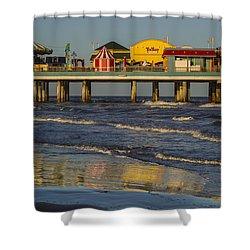 Galveston Pleasure Pier  Shower Curtain