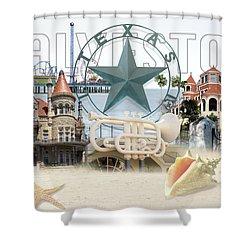 Galveston Texas Shower Curtain
