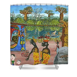 Gambia  Mar Shower Curtain
