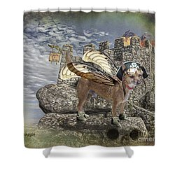 Shower Curtain featuring the digital art Game Of Bones by Rhonda Strickland
