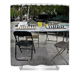 Game Of Chess Anyone Shower Curtain