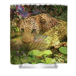 Game Spotting Shower Curtain by John Beck