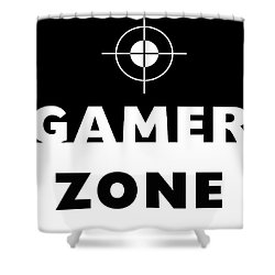 Shower Curtain featuring the mixed media Gamer Zone- Art By Linda Woods by Linda Woods