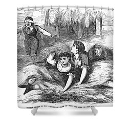 Games: Hide And Seek, 1887 Shower Curtain by Granger
