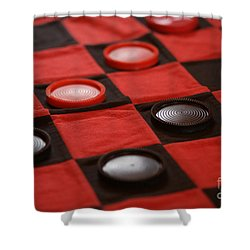 Games Shower Curtain by Linda Shafer