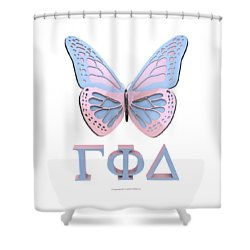 Gamma Butterfly Wings 3d Shower Curtain