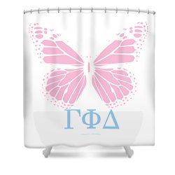 Gamma Phi Delta Classy Butterfly  Shower Curtain
