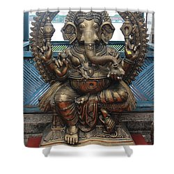 Ganapati Bronze Statue, Fort Kochi Shower Curtain by Jennifer Mazzucco