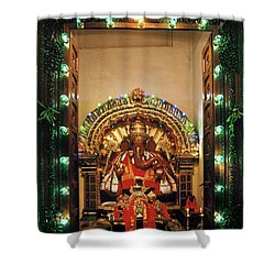 Shower Curtain featuring the photograph Ganesh Shrine by Granger