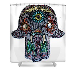 Shower Curtain featuring the painting Ganesha Hamsa by Patricia Arroyo