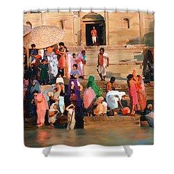 Ganges Shower Curtain by Kurt Van Wagner