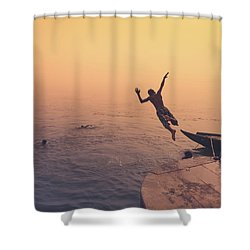 Ganges  Shower Curtain by Marji Lang