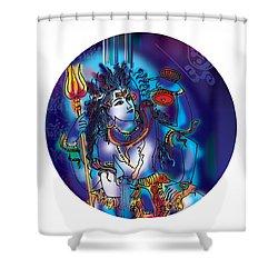 Gangeshvar Shiva Shower Curtain