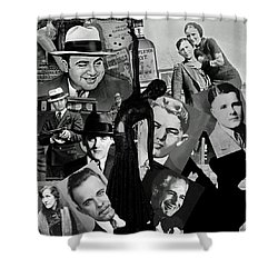 Gangland Shower Curtain by Ellen Henneke