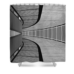 Shower Curtain featuring the photograph Gangway by Chevy Fleet
