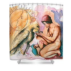 Ganymede And Zeus Shower Curtain