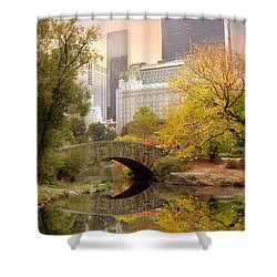 Gapstow Bridge Reflections Shower Curtain by Jessica Jenney