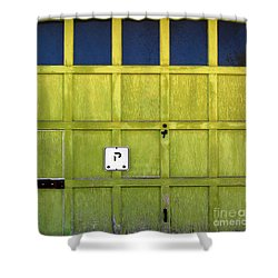 Garage Door Shower Curtain by Ethna Gillespie
