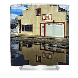 Garage Reflection Shower Curtain