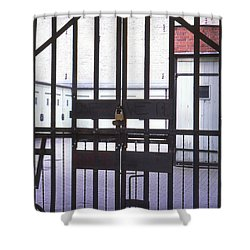 Garages And Gate Shower Curtain