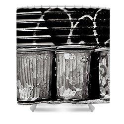 Garbage Shower Curtain by Madeline Ellis