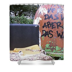 Garbage Message Shower Curtain
