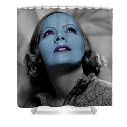 Garbo In Blue Shower Curtain