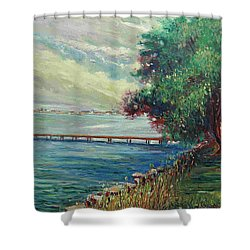 Garda Lake -lago Garda Shower Curtain