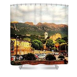 Garda Mountains Shower Curtain