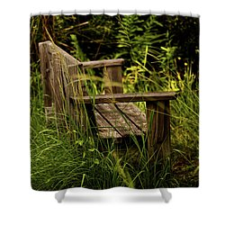 Garden Bench Shower Curtain