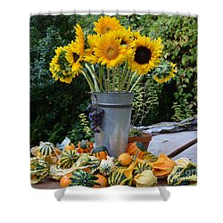 Garden Bounty In Yellow And Green Shower Curtain