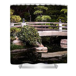Garden Bridge Shower Curtain by Ed Clark