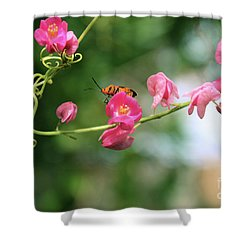 Shower Curtain featuring the photograph Garden Bug by Megan Dirsa-DuBois