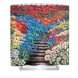 Garden Cascade Shower Curtain
