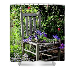 Garden Chair Shower Curtain