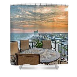Garden City Beach View Shower Curtain