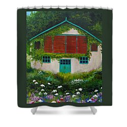 Garden Cottage Shower Curtain by Anne Marie Brown