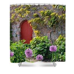 Garden Door - Paint With Canvas Texture Shower Curtain