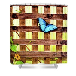 Garden Fence Shower Curtain