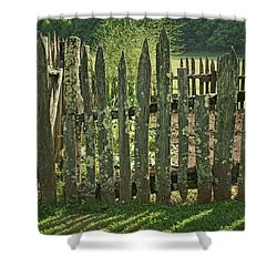 Shower Curtain featuring the photograph Garden - Fence by Nikolyn McDonald