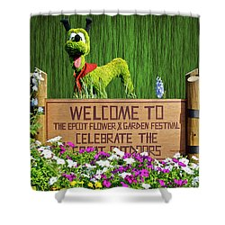 Garden Festival Mp Shower Curtain by Thomas Woolworth