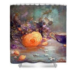 Garden Flowers Shower Curtain by Michael Rock