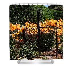 Garden Gate Shower Curtain by Teresa Schomig