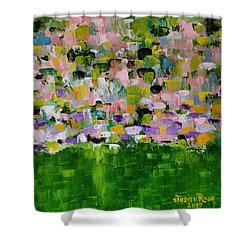 Shower Curtain featuring the painting Garden Glory by Judith Rhue