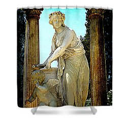 Shower Curtain featuring the photograph Garden Goddess by Lori Seaman