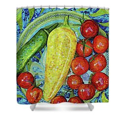 Garden Harvest Shower Curtain by Shawna Rowe