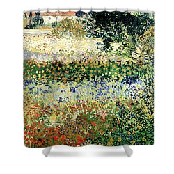 Shower Curtain featuring the painting Garden In Bloom by Van Gogh