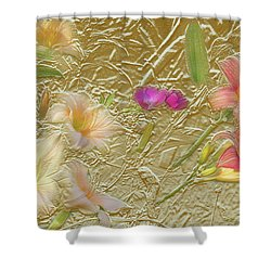 Garden In Gold Leaf2 Shower Curtain