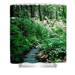 Garden In The Woods Shower Curtain